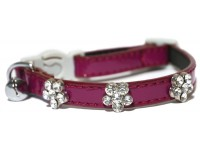Diamante Flower - Cat Collar